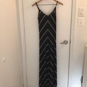 Loft black chevron maxi dress